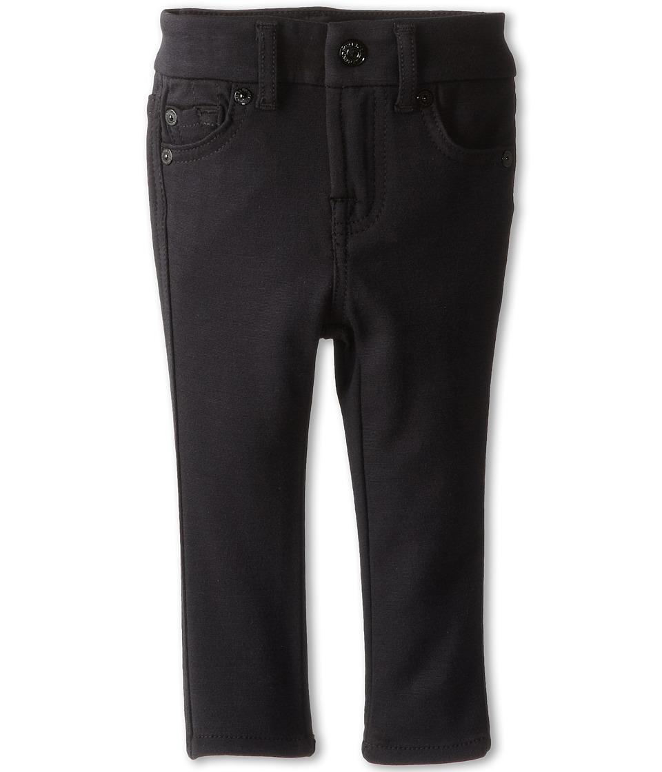 7 For All Mankind Kids - Skinny Jean in Black Ponte Knit (Infant) (Black Ponte Knit) Girls Jeans