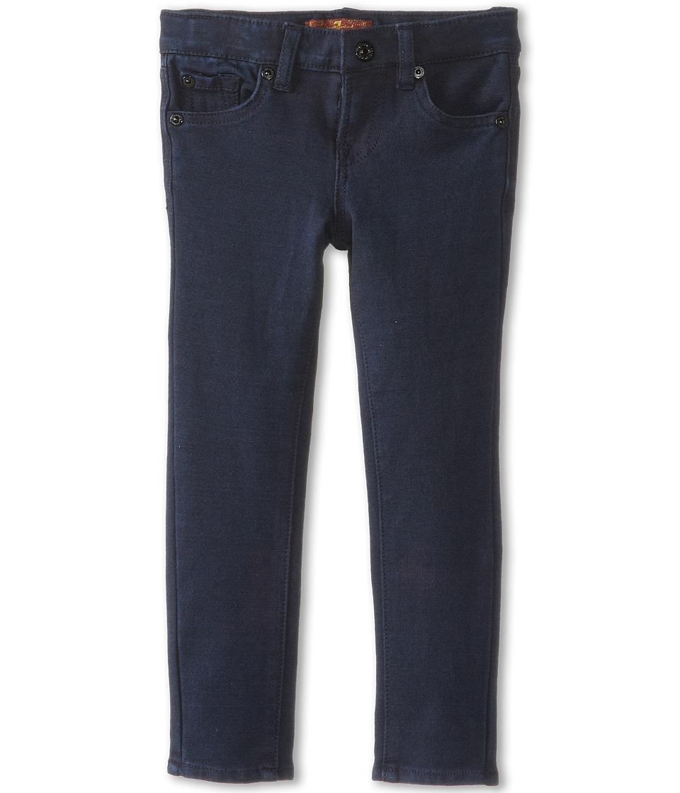 7 For All Mankind Kids - Skinny Jean in Indigo Ponte Knit (Little Kids) (Indigo Ponte Knit) Girls Jeans