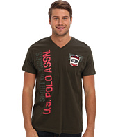 U.S. POLO ASSN. - Print and Patch V-Neck T-Shirt