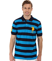 U.S. POLO ASSN. - Two Color Medium Stripe Pique Polo