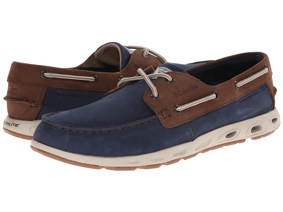 Columbia - Bonehead Vent Leather PFG (Collegiate Navy/Stone) Mens Shoes