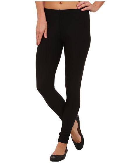 Plush Fleece-Lined Matte Spandex Legging - Black