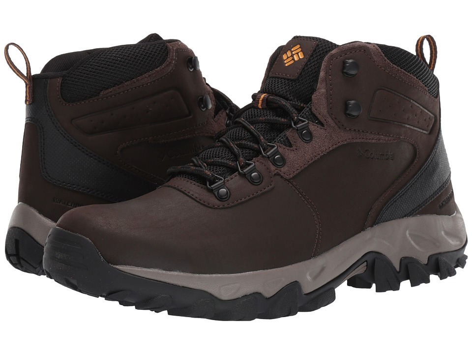 Columbia - Newton Ridgetm Plus II Waterproof (Cordovan/Squash) Mens Shoes