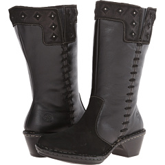 Roxie Wide Calf (Black Leather)