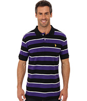 U.S. POLO ASSN. - Striped Short Sleeve Pique Polo