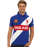 U.S. POLO ASSN. - Slim Fit Short Sleeve England Pique Polo