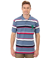 U.S. POLO ASSN. - Short Sleeve Cotton Pique Multicolor Stripe Polo