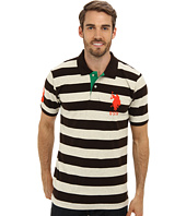U.S. POLO ASSN. - Two-Color Medium Stripe Pique Polo