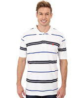 U.S. POLO ASSN. - Multistripe Short Sleeve Pique Polo