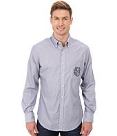 U.S. POLO ASSN. - Vertical Stripe Poplin Long Sleeve Sport Shirt