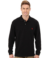 U.S. POLO ASSN. - Long Sleeve Pique Polo w/ Small Pony Logo