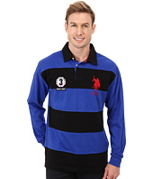 U.S. POLO ASSN. - Long Sleeve Stripe & Solid Heavy Weight Jersey Rugby Shirt