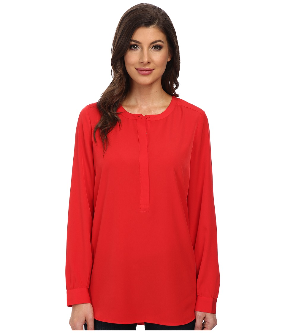 Image of NYDJ Woven Tunic (Vivid Red) Women's Blouse