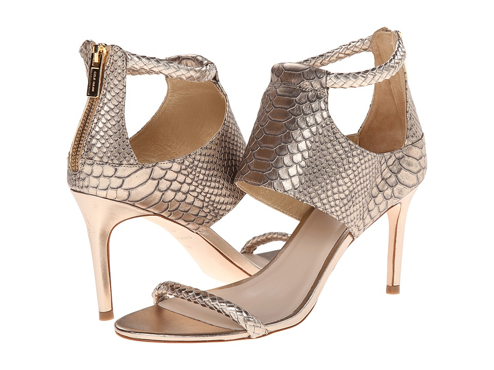 Cole Haan Lise Sandal (Champagne Snake Print) High Heels