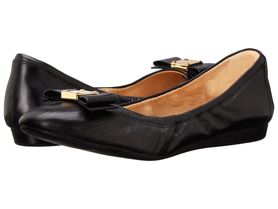 Cole Haan Tali Bow Ballet (Black) Slip-On Shoes