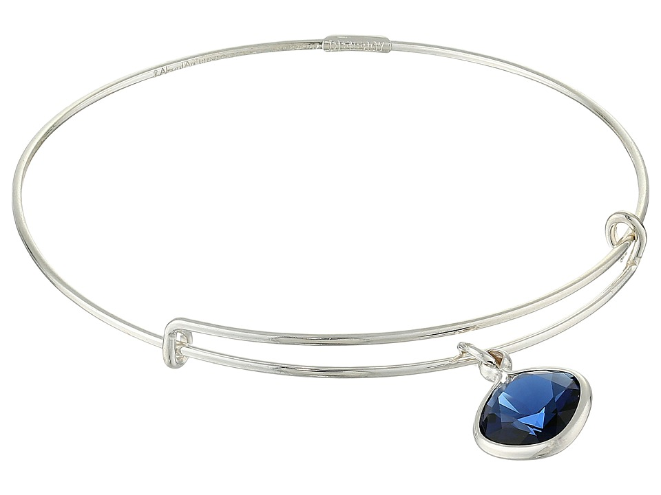 Alex and Ani - Precious Dark Indigo Truth Charm Bangle (Silver/Blue) Bracelet