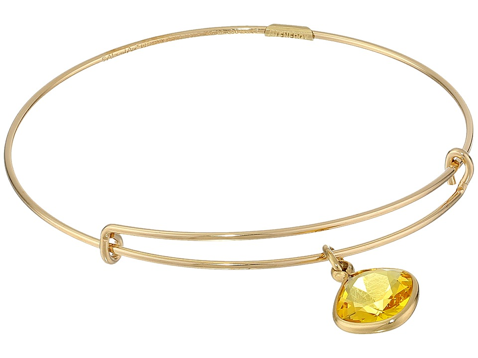 Alex and Ani - Precious Sunflower Intellect Charm Bangle (Gold/Yellow) Bracelet
