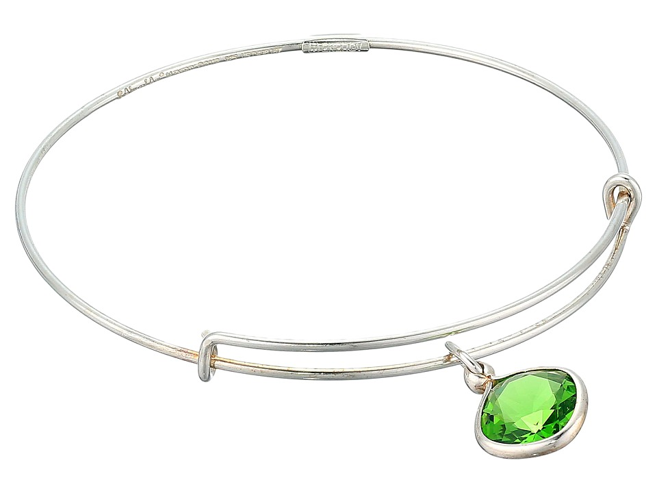 Alex and Ani - Precious Fern Green Love Charm Bangle (Silver/Green) Bracelet