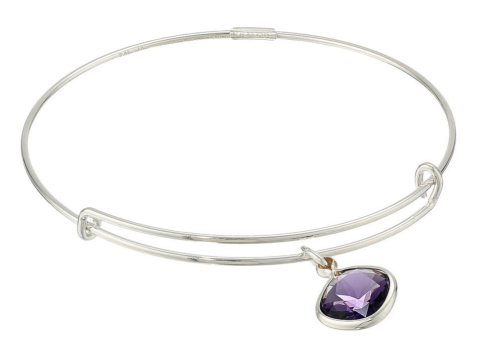 Alex and Ani - Precious Purple Velvet Spirituality Charm Bangle (Silver/Purple) Bracelet