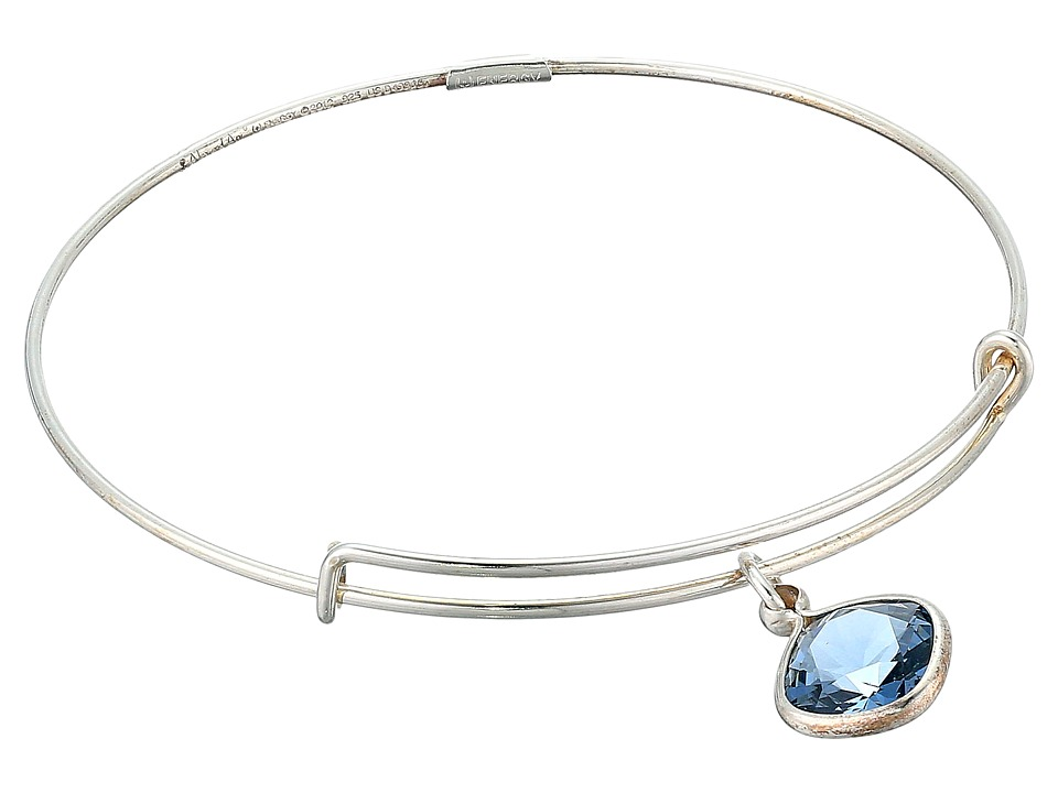 Alex and Ani - Precious Denim Blue Intuition Charm Bangle (Silver/Blue) Bracelet
