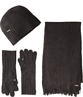 Calvin Klein - 3 Piece Belly Band Set-Hat, Scarf, Flip Tip Glove
