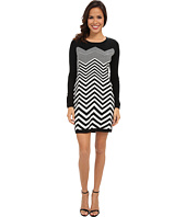 London Times - Long Sleeve Chevron Front Sheath
