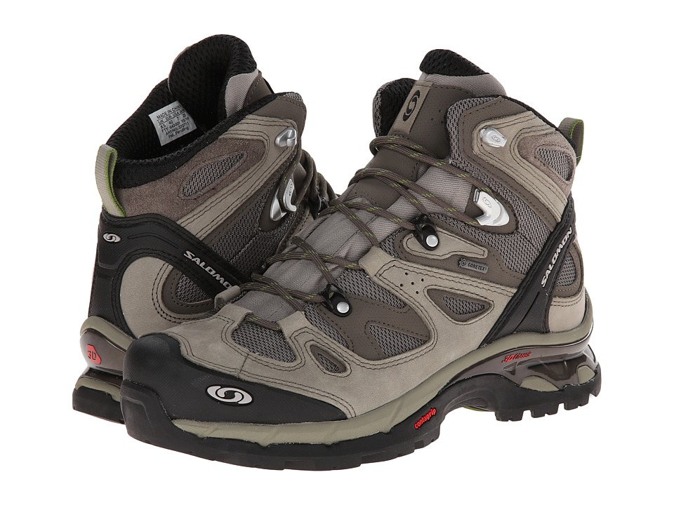 Salomon - Comet 3D GTX (Dark Titanium/Swamp/Turf Green) Men