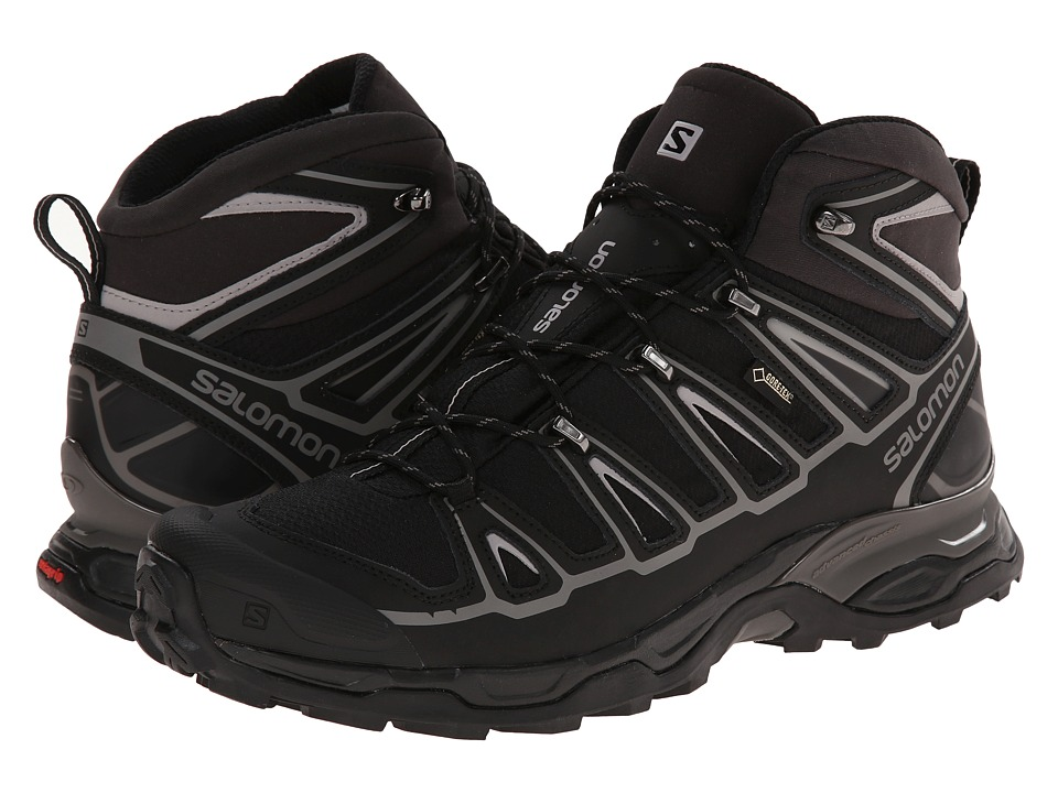 Salomon X Ultra Mid 2 GTX(r) (Black/Black/Aluminium) Men
