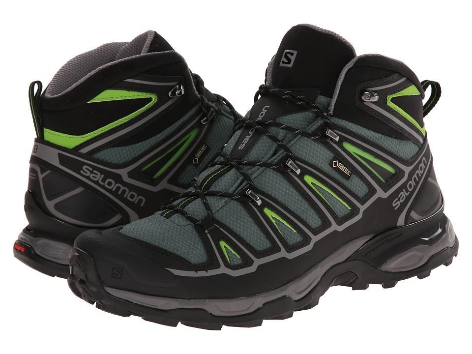 Salomon - X Ultra Mid 2 GTX (Bettle Green/Black/Spring Green) Mens Shoes