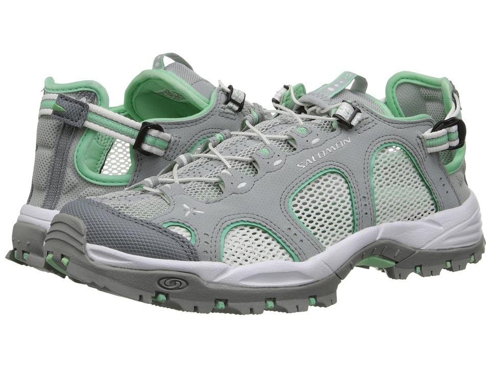 Salomon - Techamphibian 3 (Light Onix/White/Lucite Green) Womens Shoes