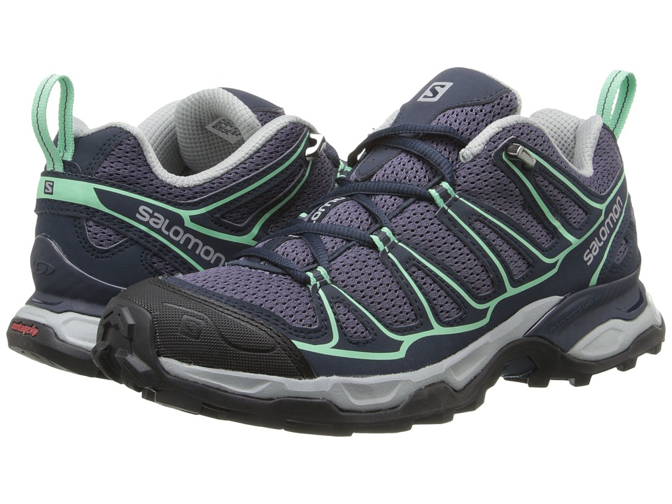 Salomon X Ultra Prime (Artist Grey-X/Deep Blue/Lucite Green) Women's Shoes