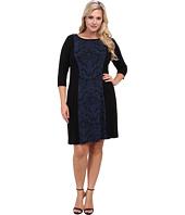 Karen Kane Plus - Plus Size Red Sky Jacquard Panel Dress