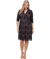 Karen Kane Plus - Plus Size Red Sky Scallop Lace Dress