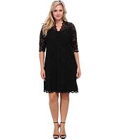 Karen Kane Plus - Plus Size Scallop Lace Dress