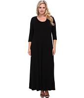 Karen Kane Plus - Plus Size Red Sky Long Sleeve Maxi Dress