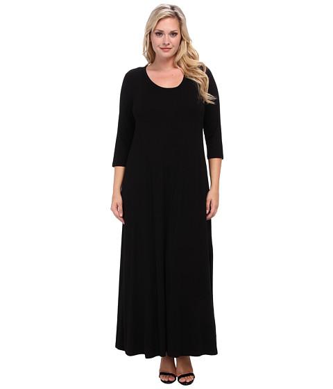 Karen Kane Plus Plus Size Red Sky Long Sleeve Maxi Dress (Black) Women's Dress