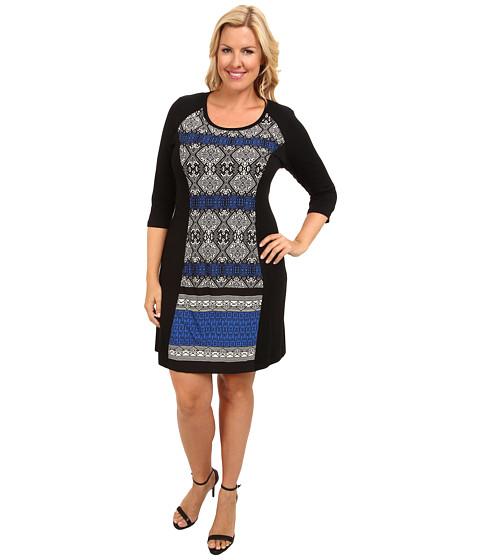 Karen Kane Plus Plus Size Blue Moon Panel Dress (Print) Women's Dress