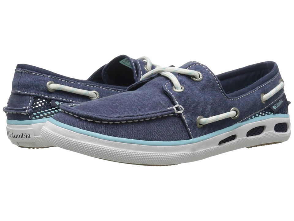 Columbia Vulc N Vent Boat Canvas (Collegiate Navy/Candy Mint) Women