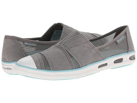 Columbia - Vulc N Vent Slip (Light Grey/Candy Mint) Women's Slip on  Shoes