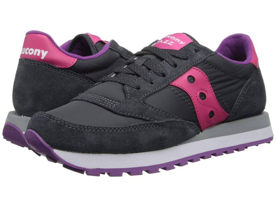 Saucony Originals - Jazz Original (Charcoal/Pink) Womens Classic Shoes