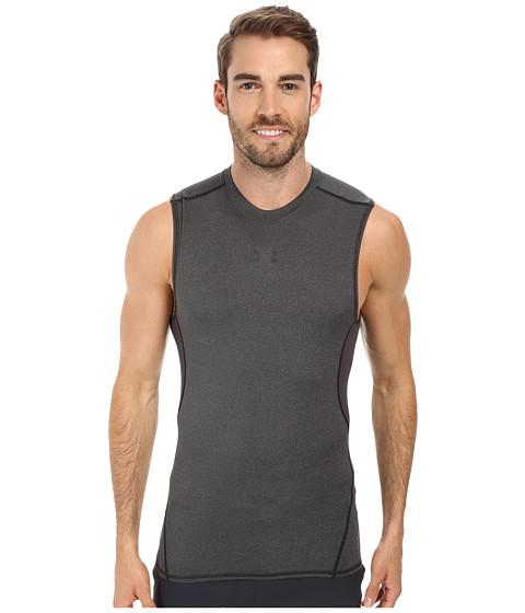 Under Armour Armour® Heatgear® S/L Tee - Carbon Heather/Black