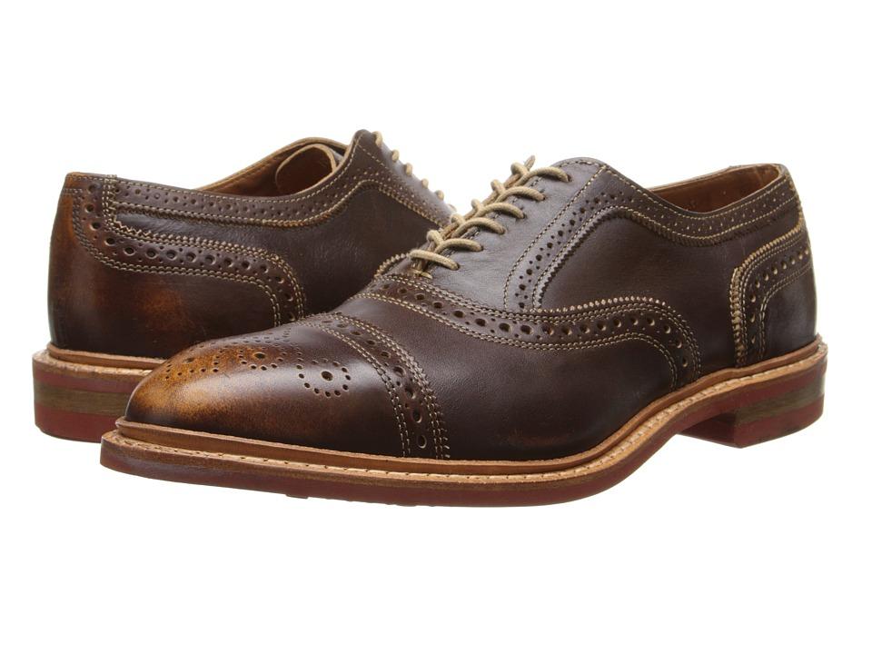 Allen Edmonds Strandmok (Brown Leather) Men's Lace Up Cap...
