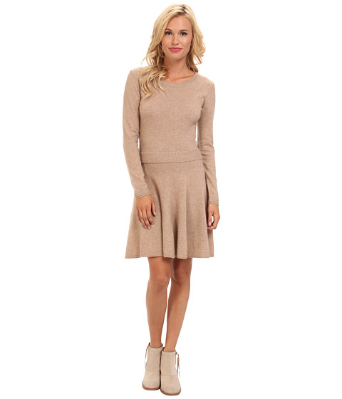Shop Joie online and buy Joie Talissa Heather Camel Online - Joie - Talissa (Heather Camel) - Apparel: Satisfy your cravings for comfortable fashion in the Joie Talissa sweater dress. ; Cashmere-blend sweater dress, in a fit-and-flare silhouette, features a ribbed waistline. ; Ribbed scoop neckline. ; Long sleeves with ribbed cuffs. ; Straight hemline. ; 70% wool, 30% cashmere. ; Hand wash cold, dry flat. ; Imported. Measurements: ; Length: 38 in ; Product measurements were taken using size SM (US 4-6). Please note that measurements may vary by size. ; Keep your clothing clean, in place, and in style with these products! Hollywood's best-kept Fashion Secrets: