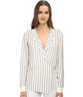 tibi - Long Sleeve Wrap Blouse