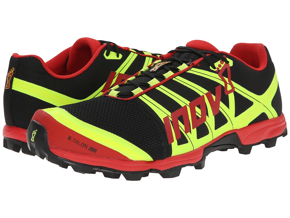 inov 8 X Talon 200 Black/Red/Yellow Running Shoes