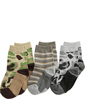 Jefferies Socks - Camo Stripe Crew Socks 3 Pack (Infant/Toddler/Little Kid/Big Kid)
