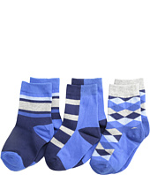 Jefferies Socks - Argyle Stripe Crew Socks 3 Pack (Toddler/Little Kid/Big Kid)
