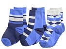 Jefferies Socks - Argyle Stripe Crew Socks 3 Pack (Toddler/Little Kid/Big Kid)