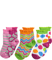 Jefferies Socks - Chevron Dot/Stripe Sock 3 Pack (Infant/Toddler/Little Kid/Big Kid)