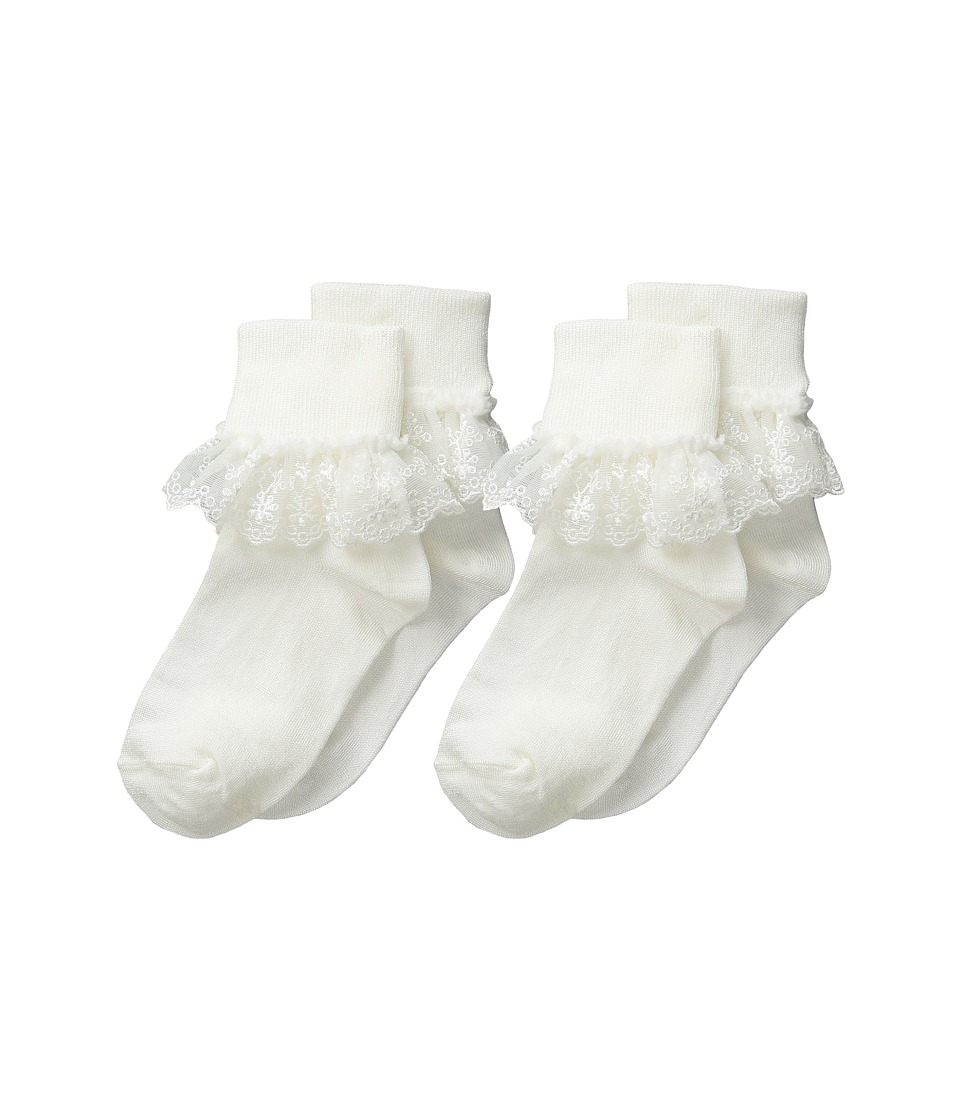Jefferies Socks - Snow Queen Lace 2 Pack (Infant/Toddler/Little Kid/Big Kid) (Ivory) Girls Shoes